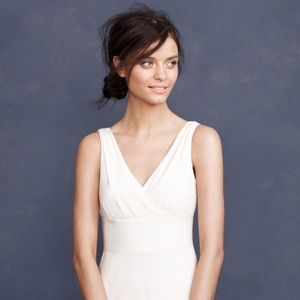 J. Crew Ivory Silk Sophia Petite Wedding Dress 8P